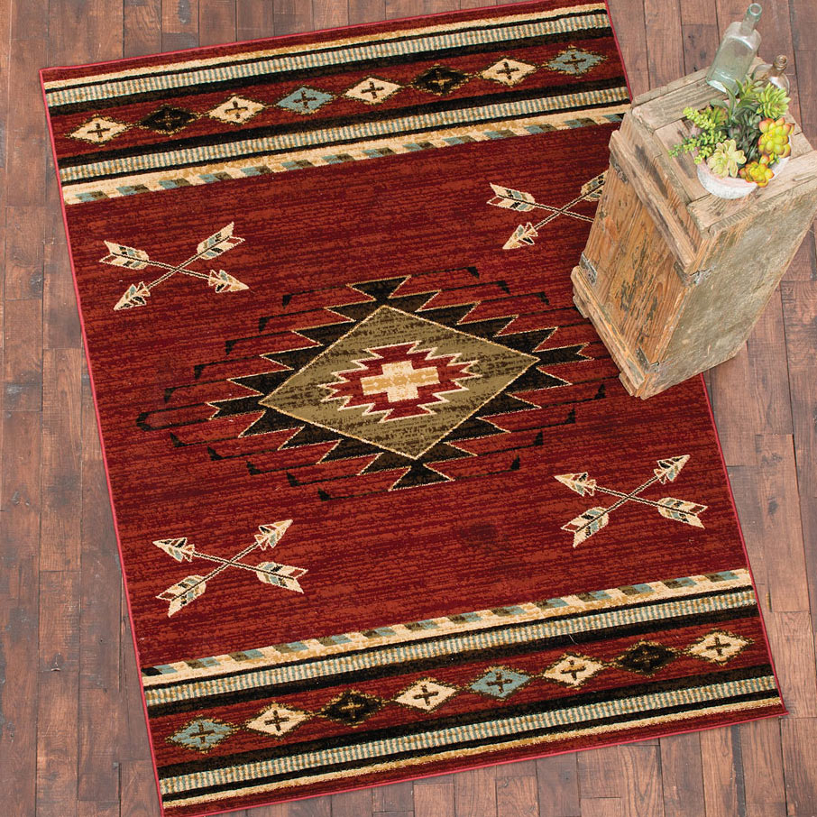 Diamond Arrow Red Rug 8 X 10