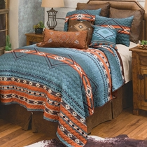 Diamond Canyon Quilt Set - Queen