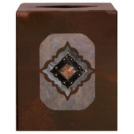 Diamond Copper Concho Square Tissue Box Cover