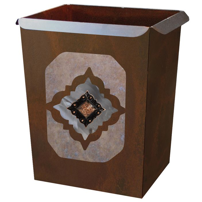 Diamond Copper Concho Waste Basket