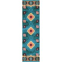 Diamond Creek Turquoise Rug - 2 x 8