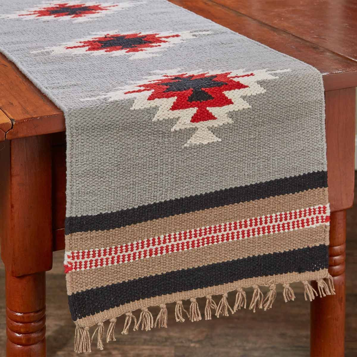 Diamond Flame Table Runner - 36 Inch