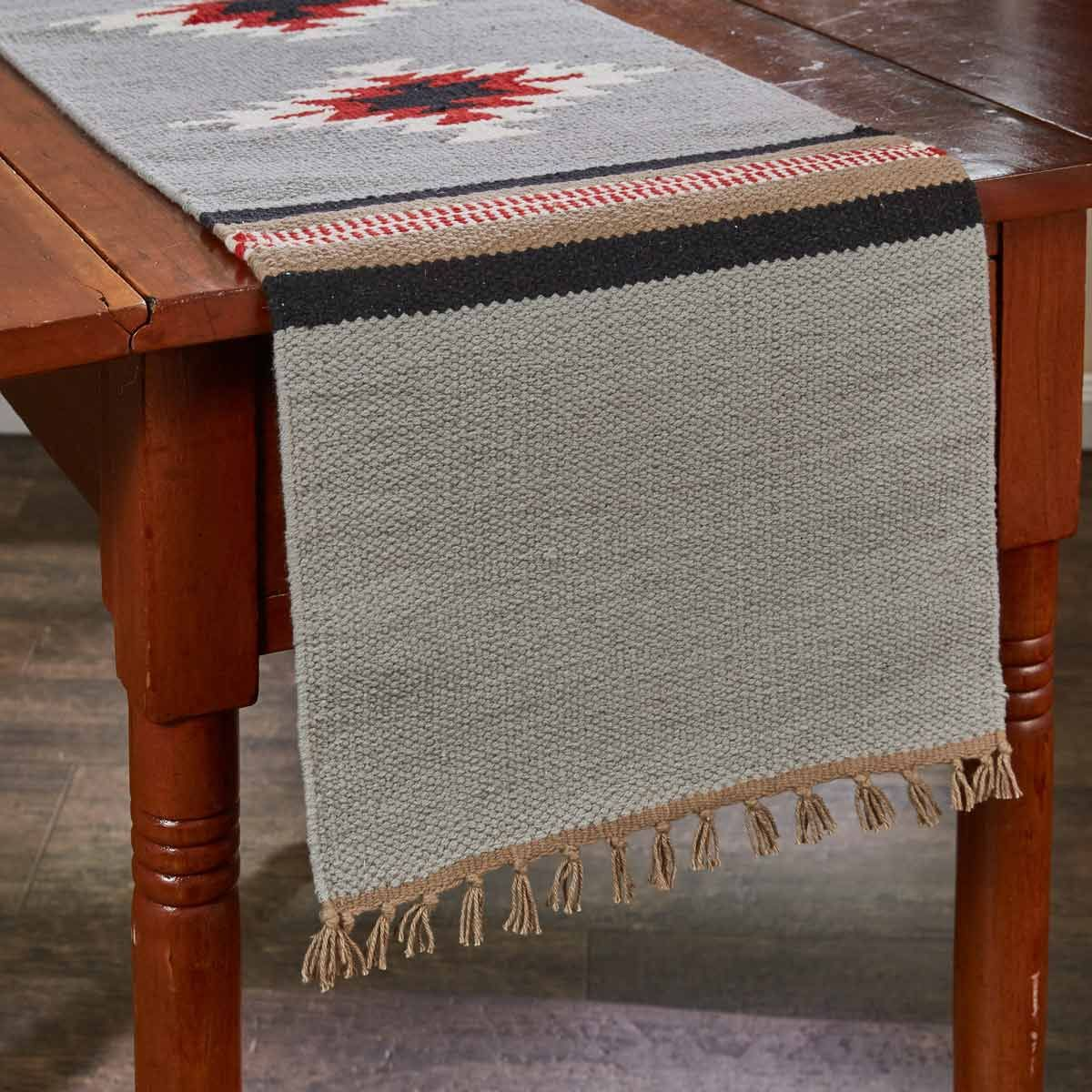Diamond Flame Table Runner - 54 Inch