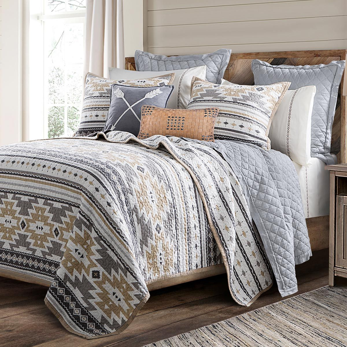 Diamond Haze Quilt Set - Queen