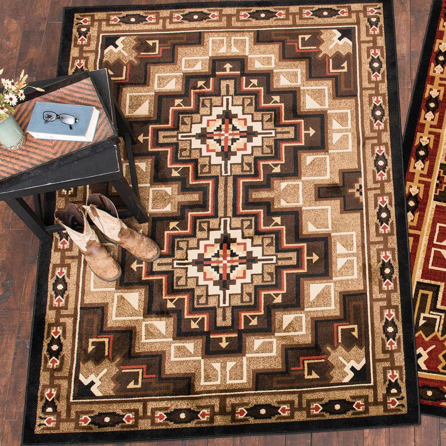 Diamond Mirage Brown Rug - 2 x 3