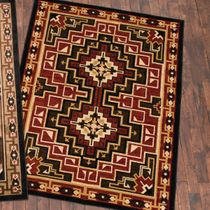 Diamond Mirage Red Rug - 2 x 8