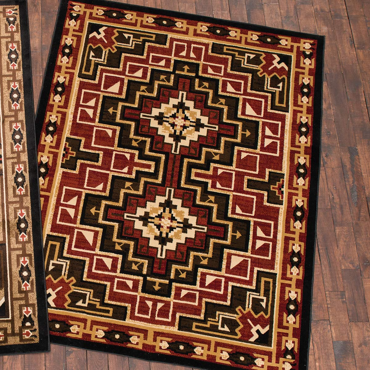 Diamond Mirage Red Rug - 5 x 8