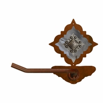 Diamond Old Silver Berry Toilet Paper Holder - Rust