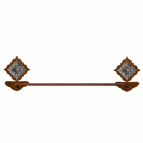 Diamond Old Silver Berry Towel Bar - Rust