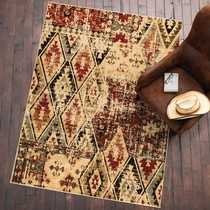 Diamond Rust Rug - 5 x 7