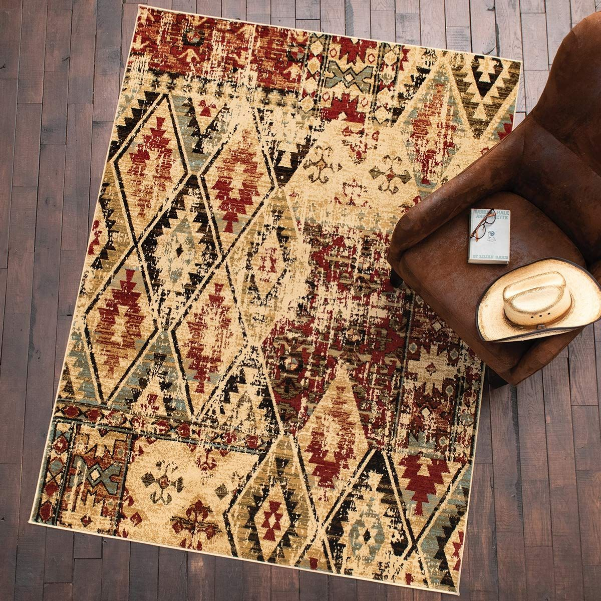 Diamond Rust Rug - 8 x 10