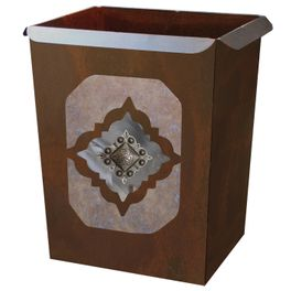 Diamond Silver Concho Waste Basket