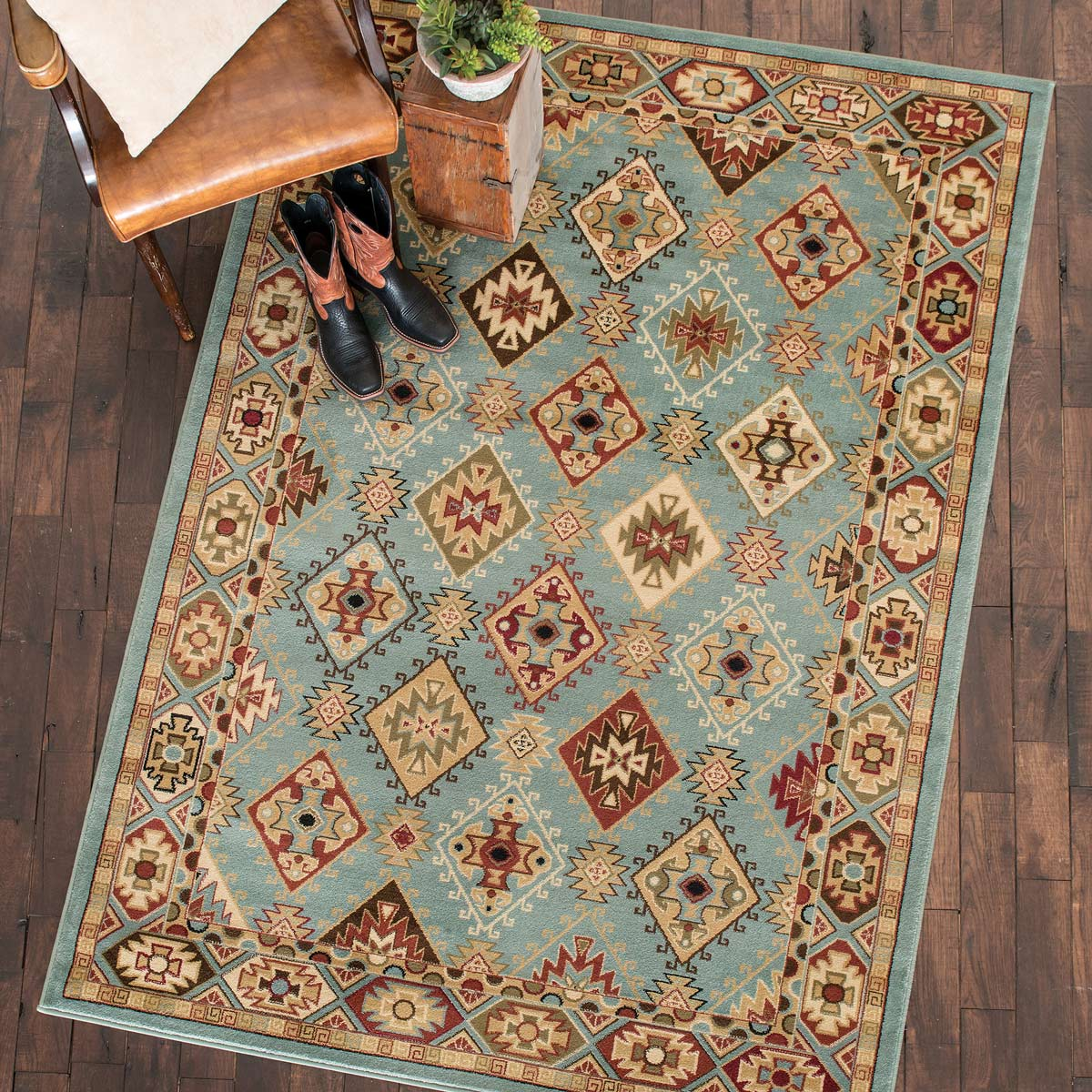 Diamond Sky Southwest Rug - 5 x 7