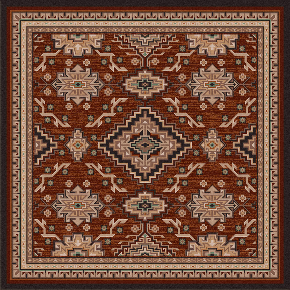 Diamond Trails Rug - 8 Ft. Square