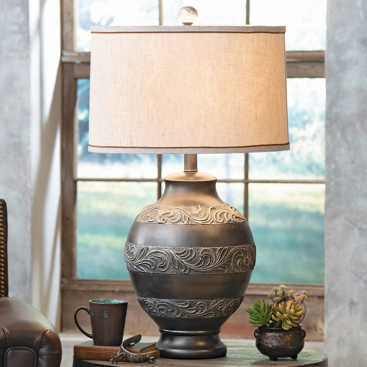 Dillon Scrollwork Table Lamp