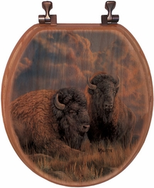 Great Plains Bison Toilet Seat