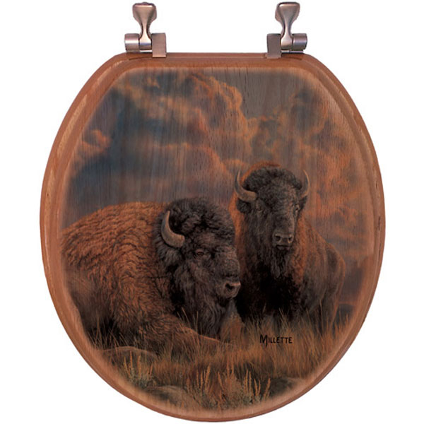 Great Plains Bison Toilet Seat - Elongated