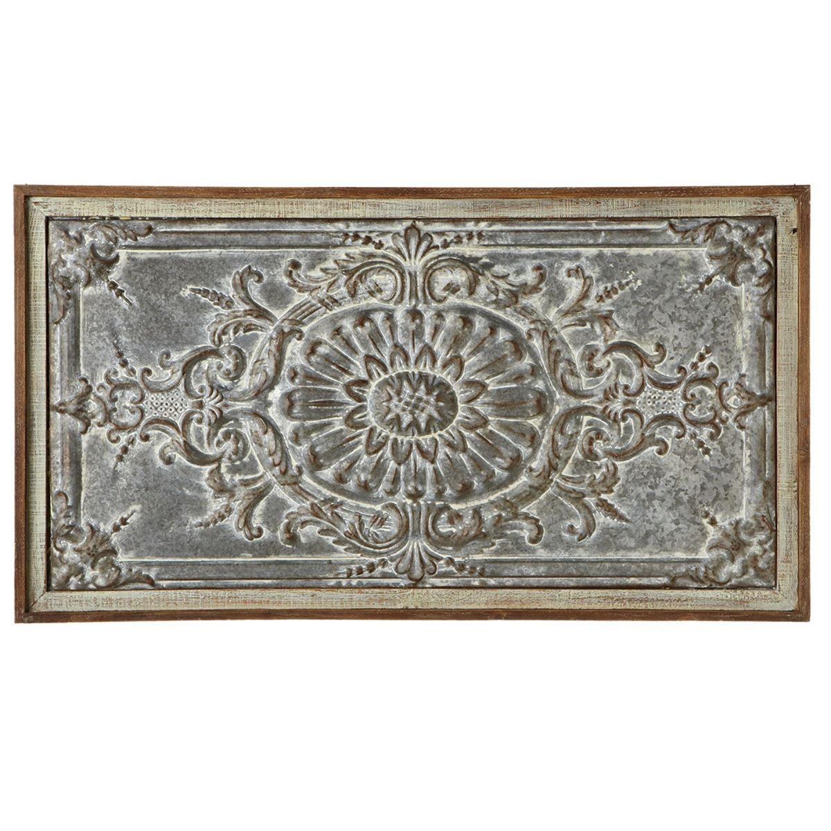 Distressed Embossed Medallion Wall Art