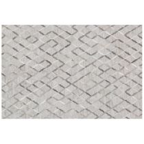 Dorado Gray Diamond Rug - 3 x 8