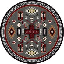 Double Cross Rug - 8 Ft. Round