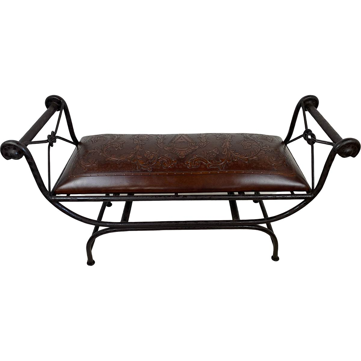 Double Vanity Bench - Colonial & Antique Brown