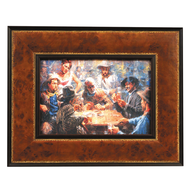 Draw Poker Framed Print