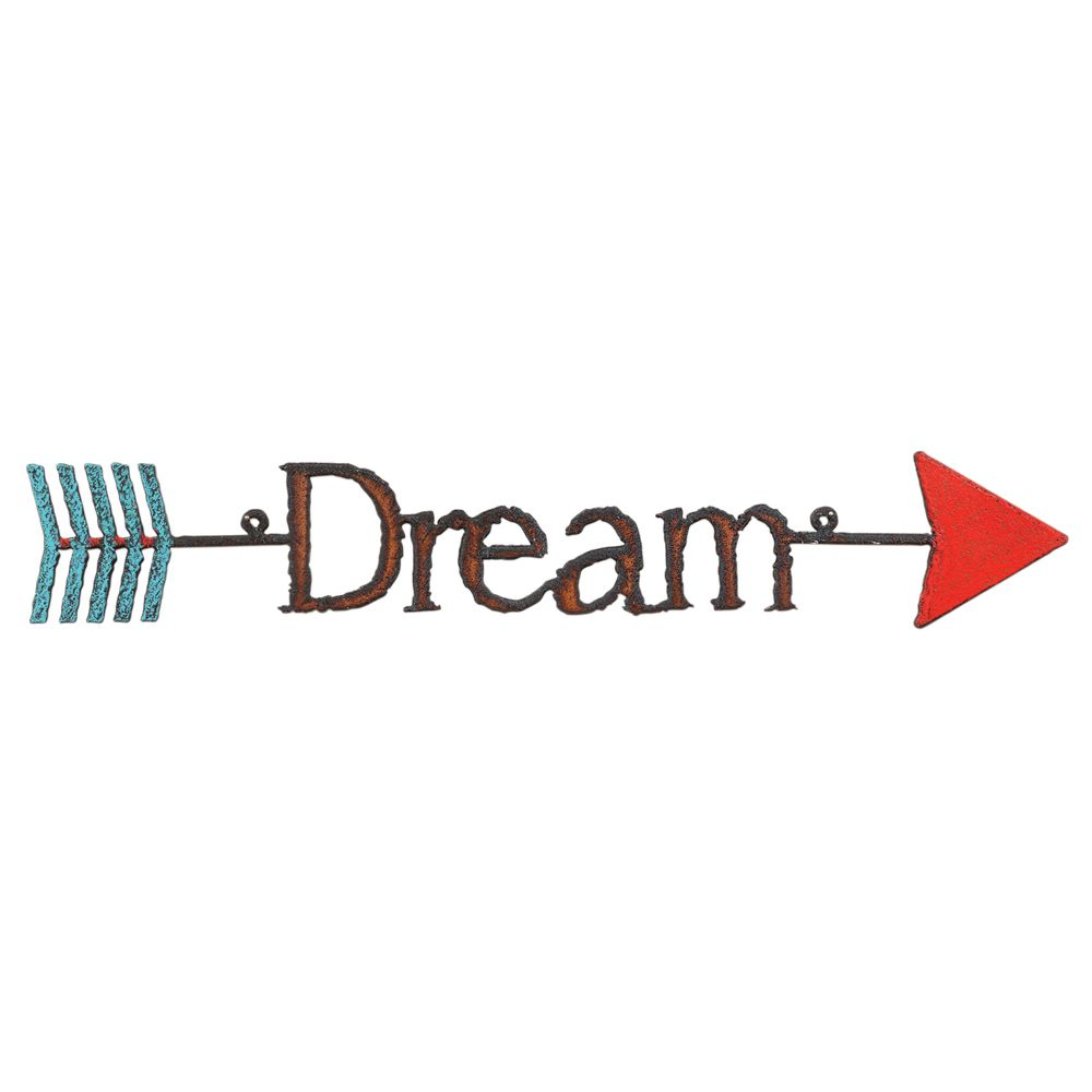 Dream Colorful Arrow Metal Wall Art