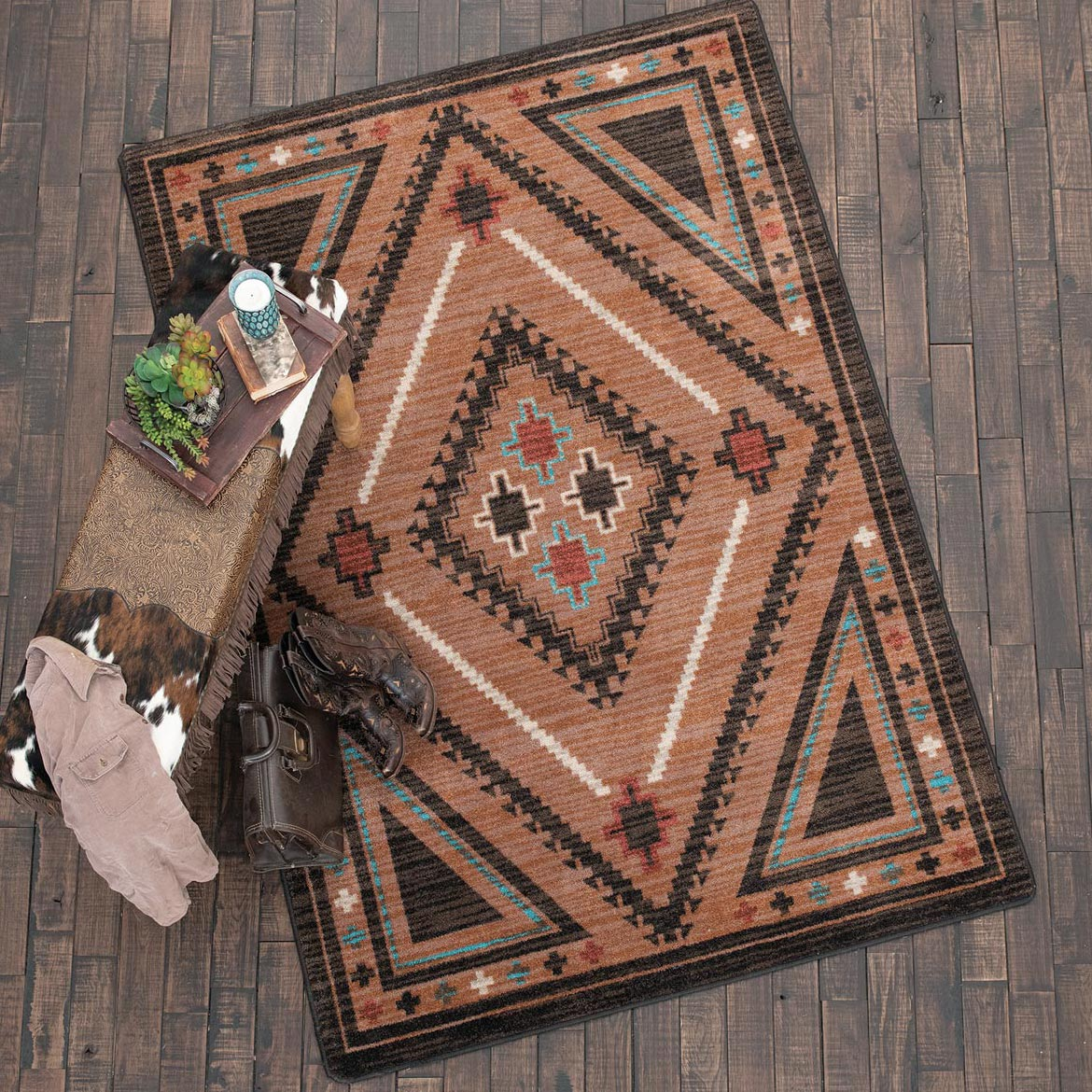 Dream Weaver Rust Rug - 3 x 4