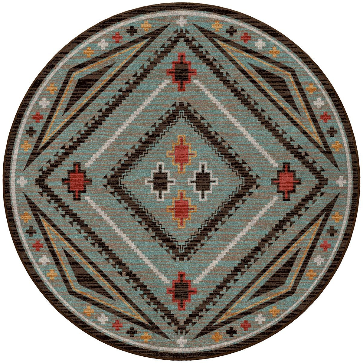 Dream Weaver Turquoise Rug - 8 Ft. Round