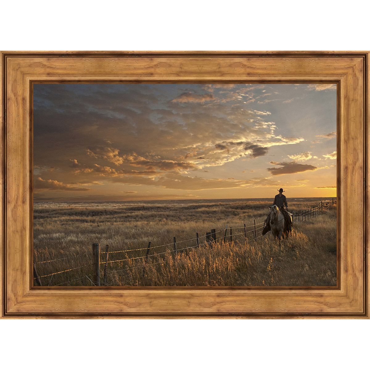 Dusk on the Plains Framed Canvas