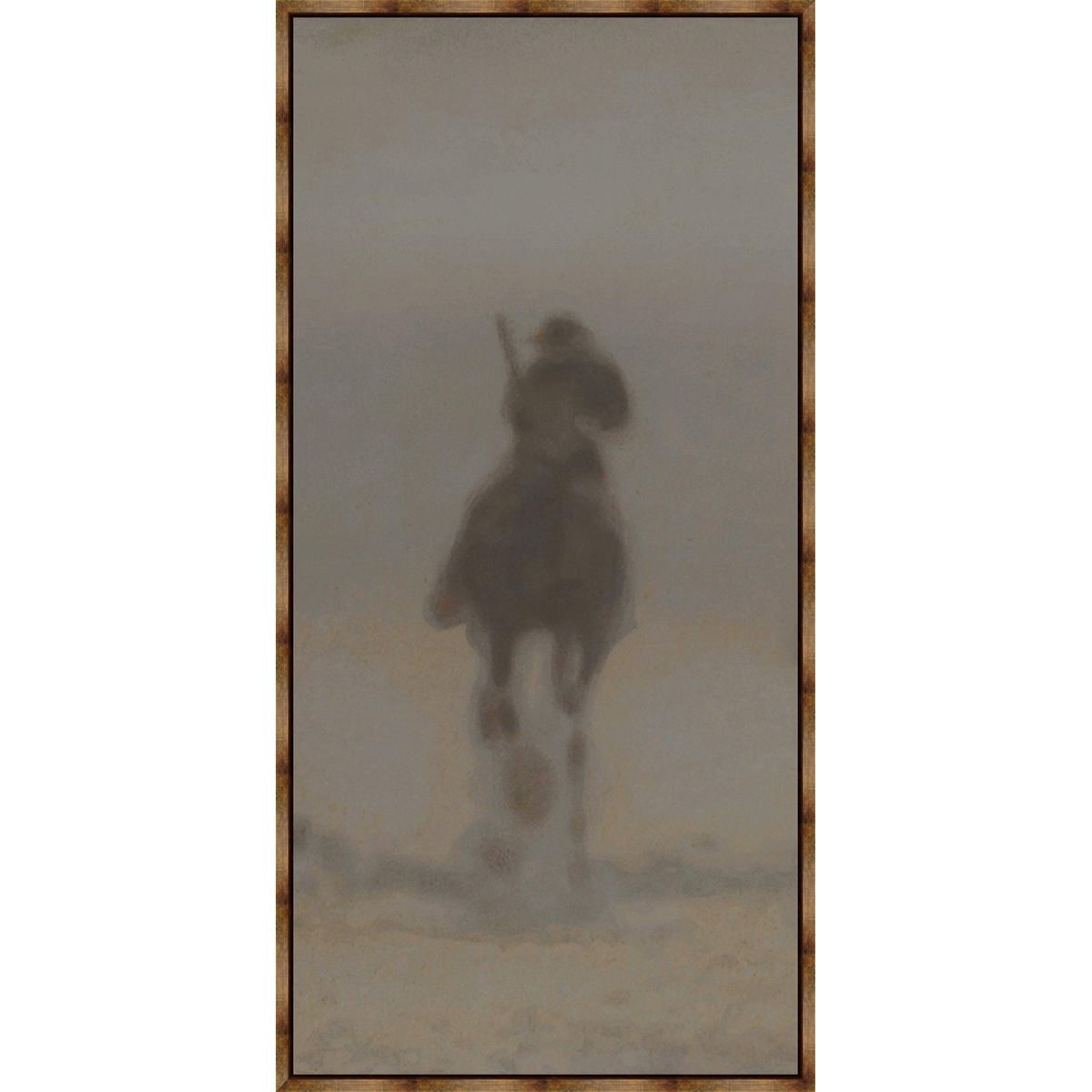 Dust Rider II Framed Canvas