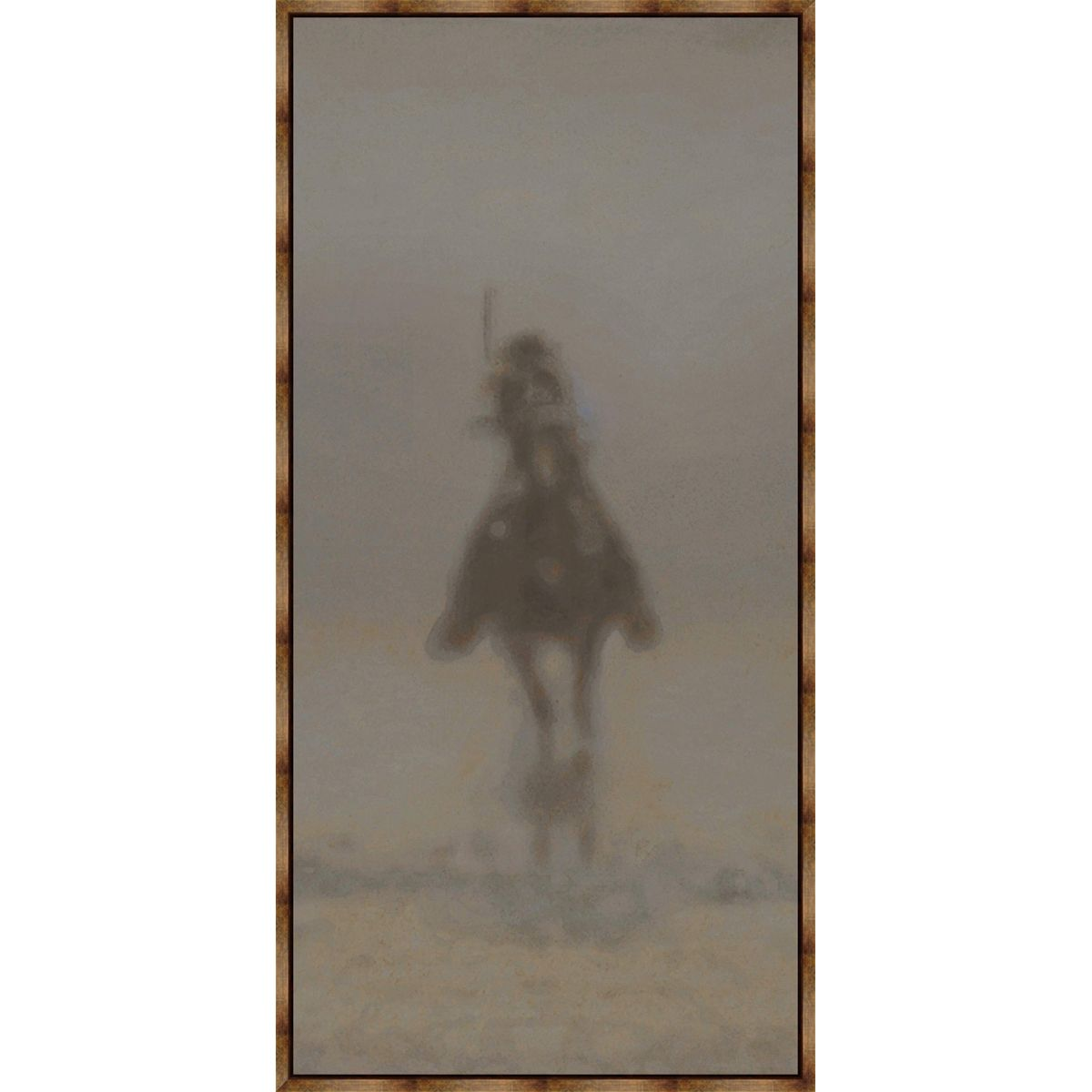 Dust Rider III Framed Canvas