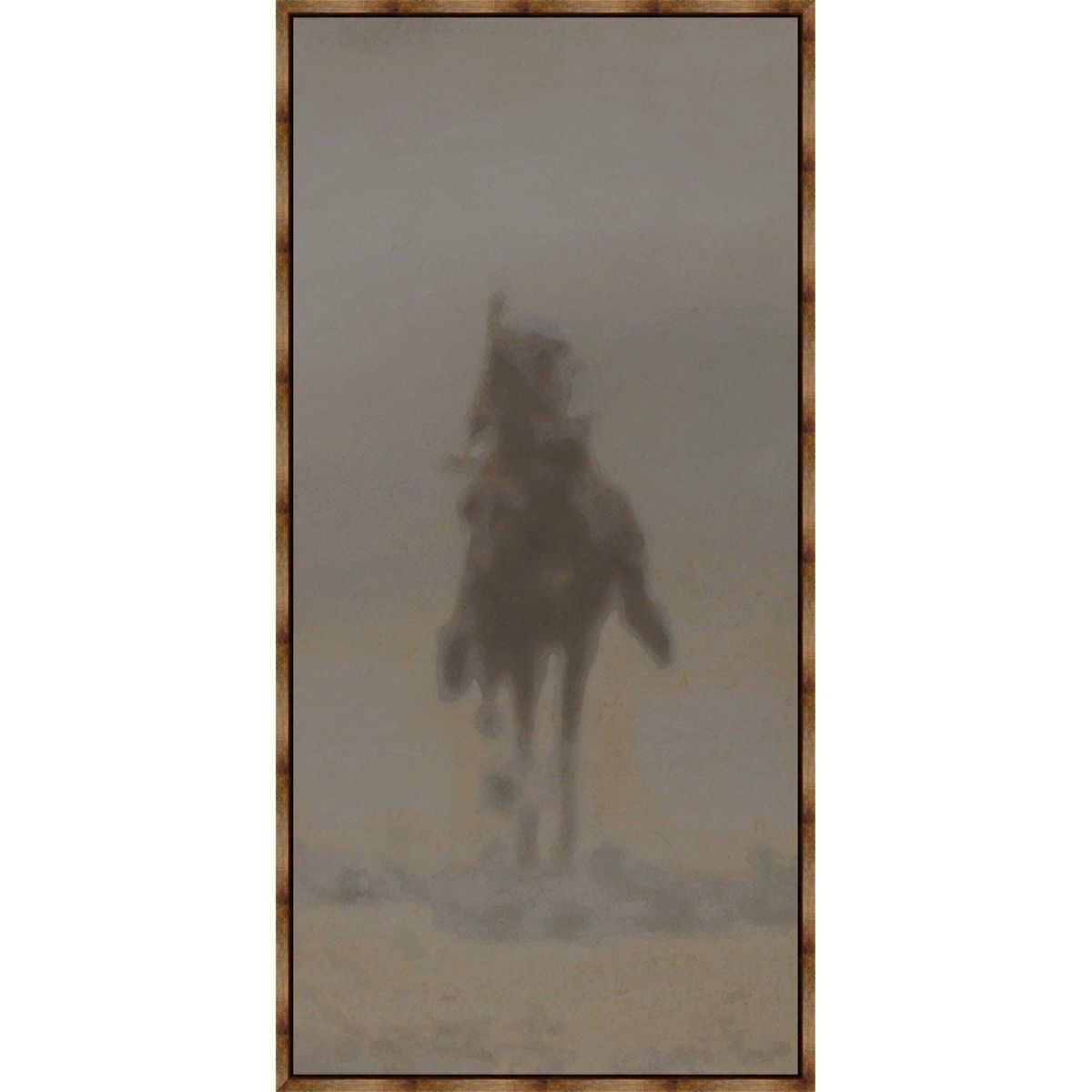 Dust Rider IV Framed Canvas