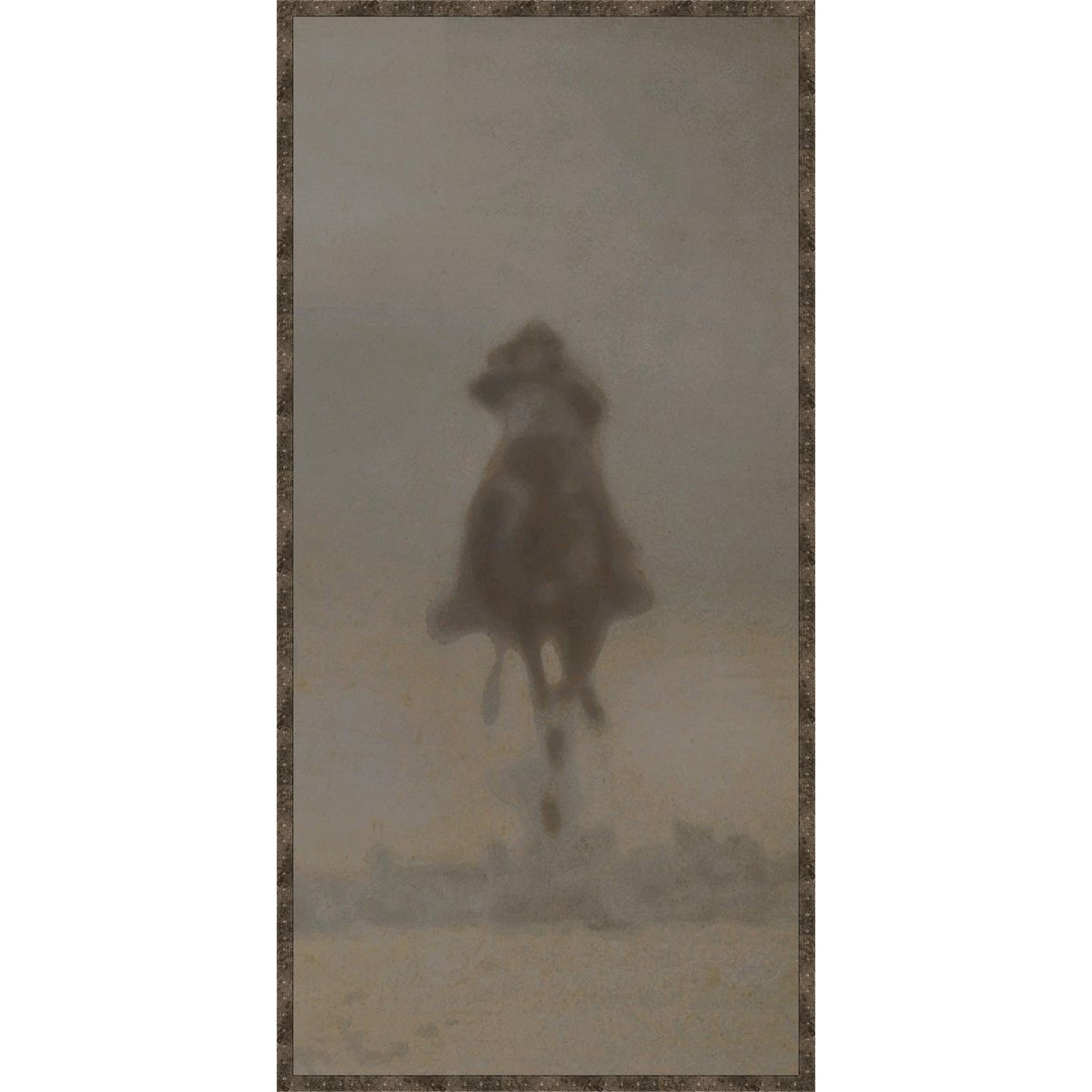 Dust Rider V Framed Canvas