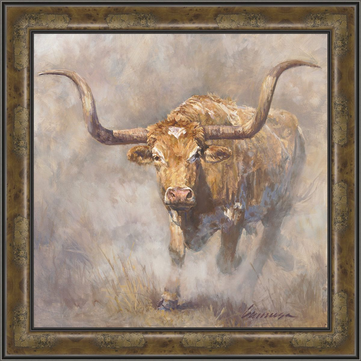 Dusty Longhorn Canvas Art