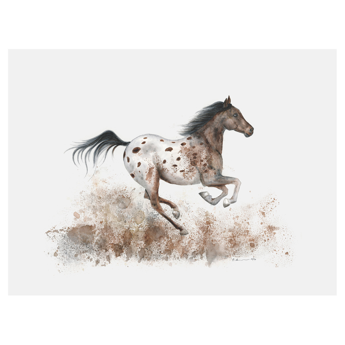 Dusty Trot Horse Canvas Art