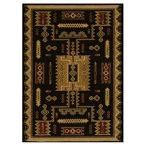 Eagle Bluff Black Rug - 5 x 8