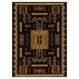 Eagle Bluff Black Rug Collection