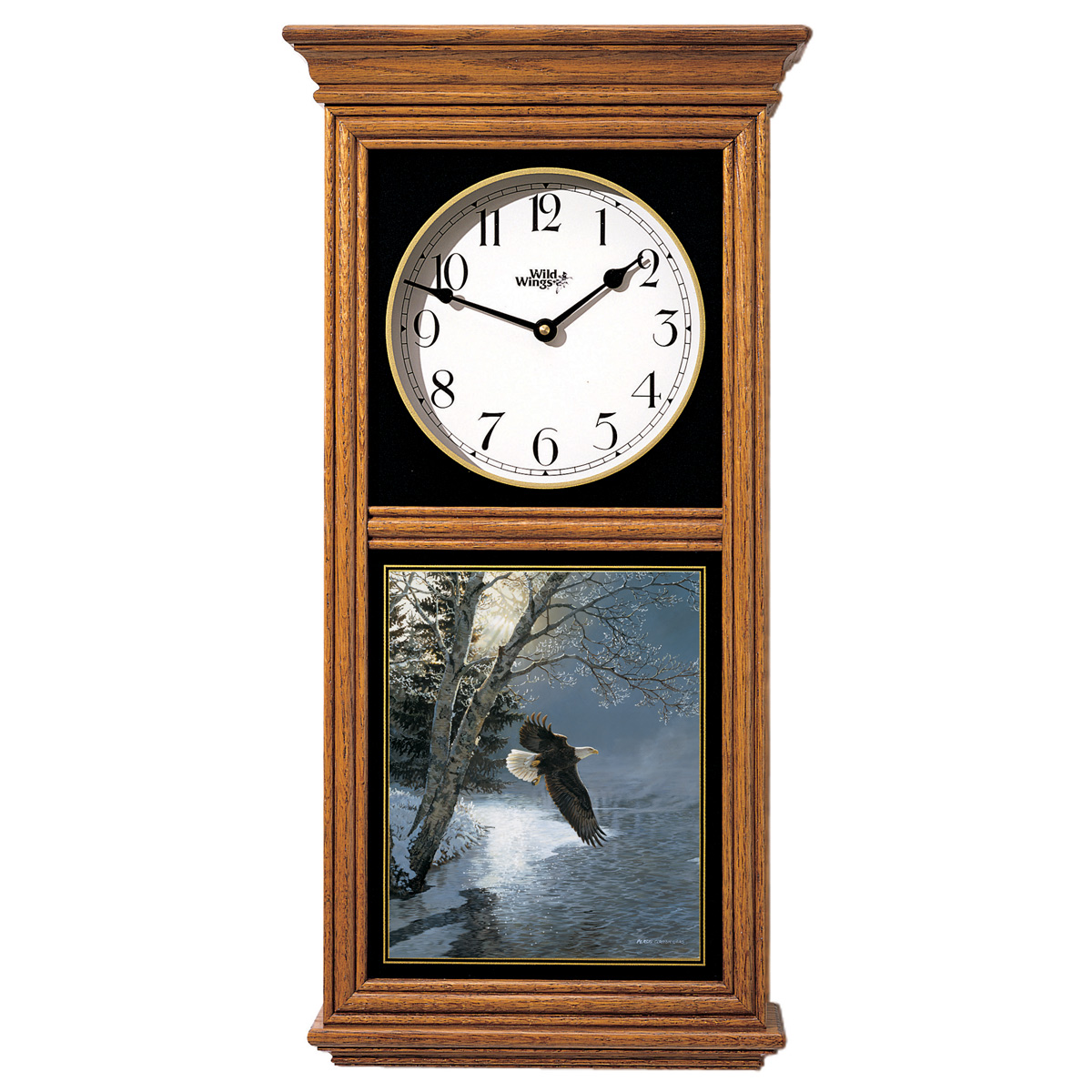 Eagle Winter Regulator Clock