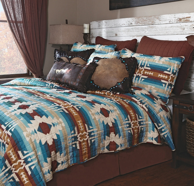 Western Bedding Sets Queen Size Earth Sky Quilt Bed Set Lone