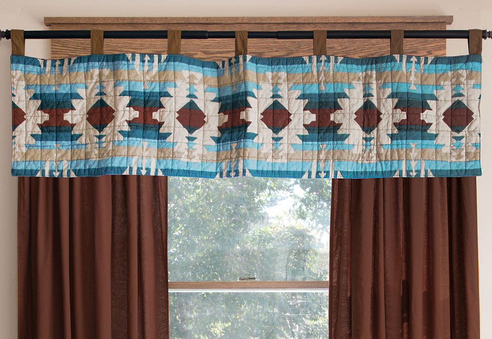 Earth & Sky Quilted Valance