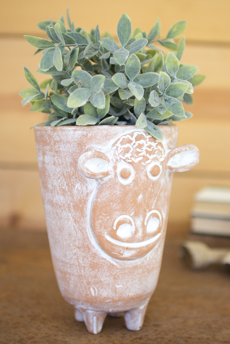 Earthy Sheep Planter