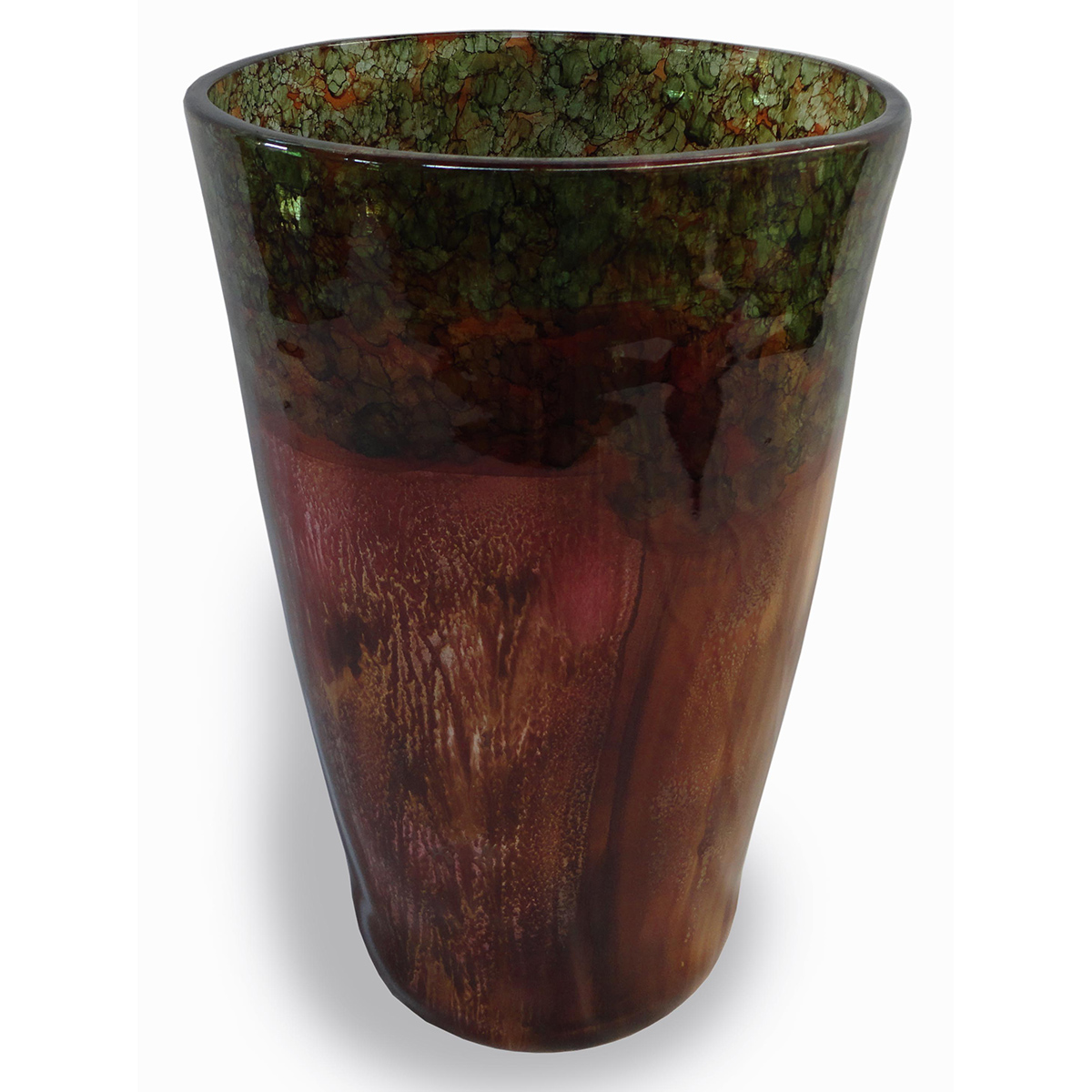 Earthy Wide Mouth Cone Vase