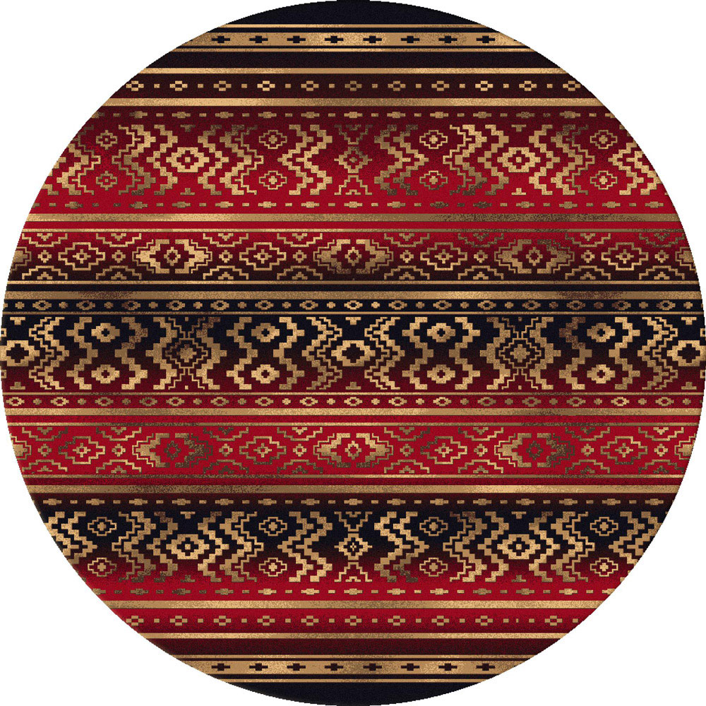 Southwest Rugs 8 Ft Round El Mirage Rug Lone Star