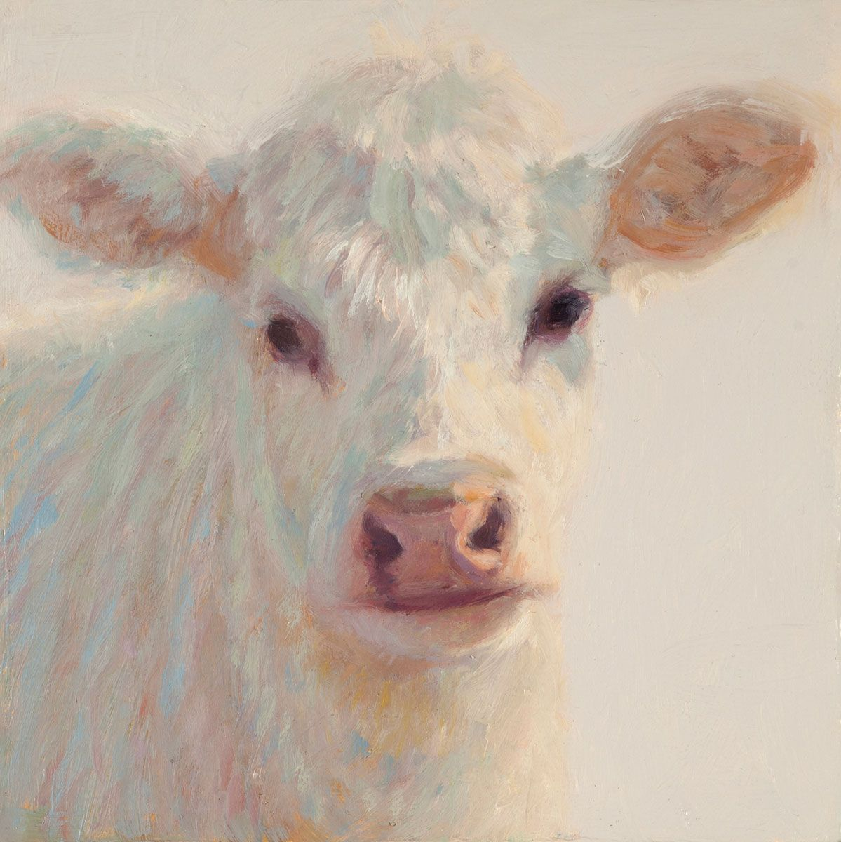 Ella the Cow Canvas Art