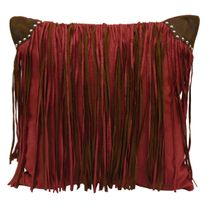 Elsa Fringed Faux Suede Pillow