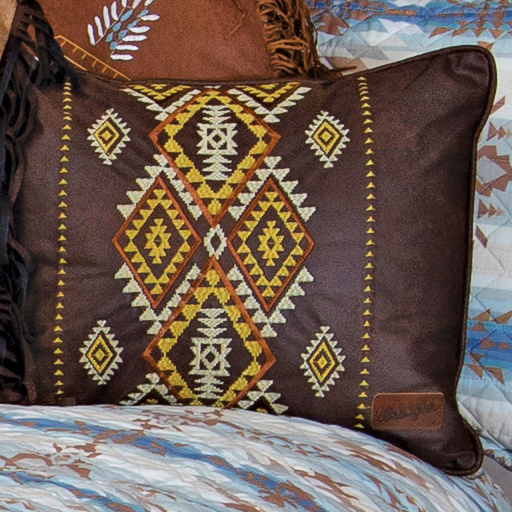 Embroidered Diamond River Pillow