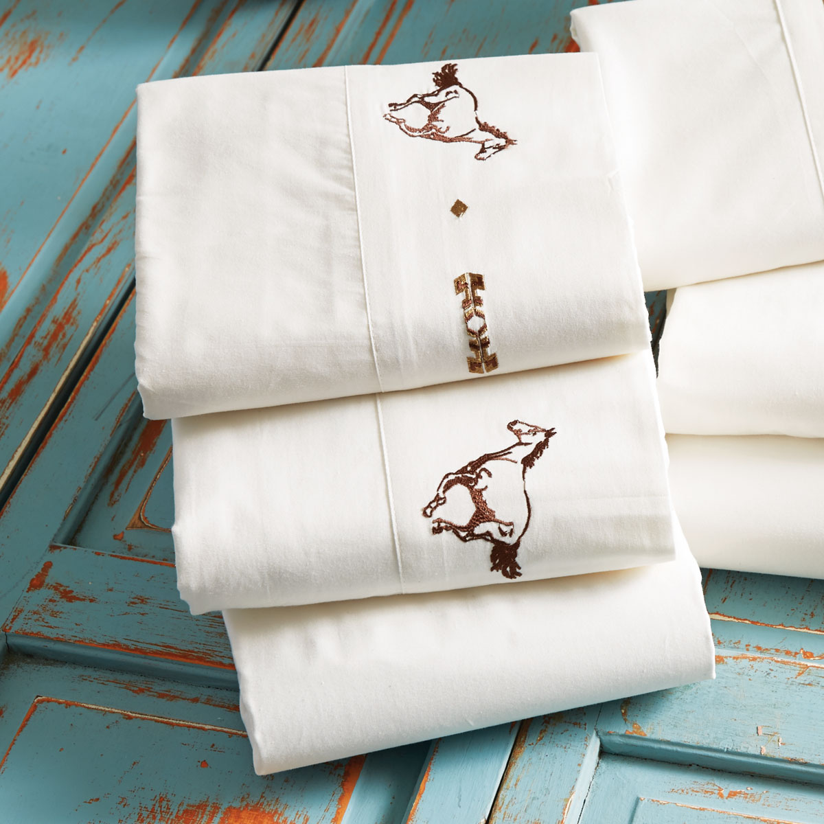 Embroidered Horse Sheet Set - Full