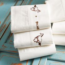 Embroidered Horse Sheet Set - King