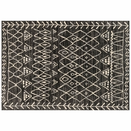Emory Black Ivory Rug Collection